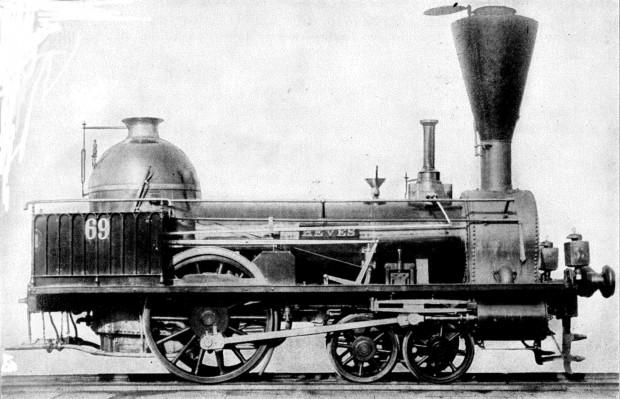 Az egyik első magyar mozdony, a Heves
