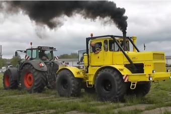 Orosz géplegenda a modern technika ellen: K700 húzza a Fendt traktort