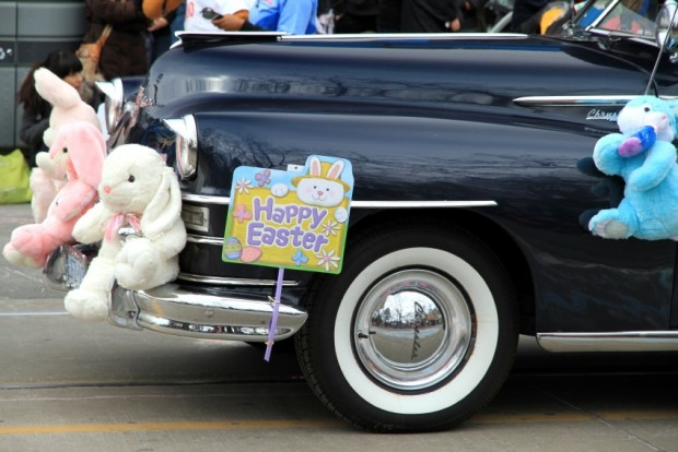 An old Cadillac during the Easter Parade 2012 in Toronto