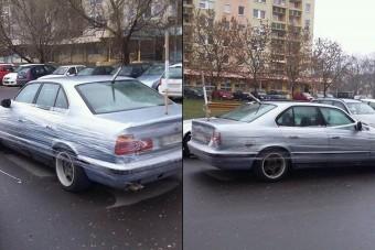 Így tréfálta meg néhány debreceni srác a BMW-s havert