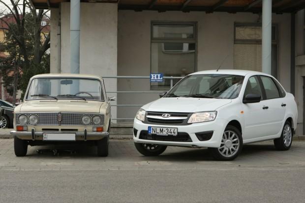 VAZ 2103 a klasszikus Ezeröcsi, VAZ 2190 az új Granta