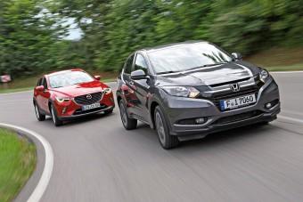 Mit tud a Honda városi terepese a Mazda ellen?