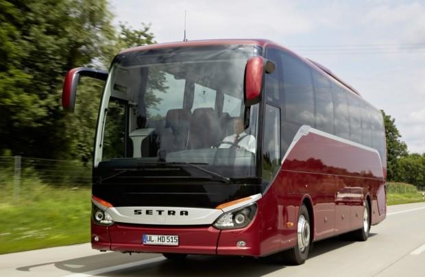 A Setra S 515 HD csúcskategóriás távolsági busznak számít