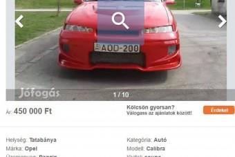 Fullextrás, arcban ideges Opel eladó