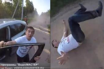 Dühöngő autóst vert bele a csalánba a motoros