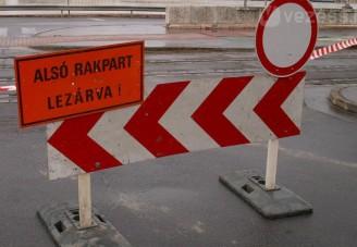 Rakpartlezárás több hónapig Budapesten