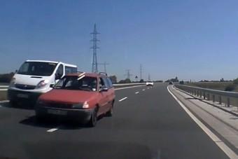 Három autóst szorított le a tahó opeles Miskolcnál