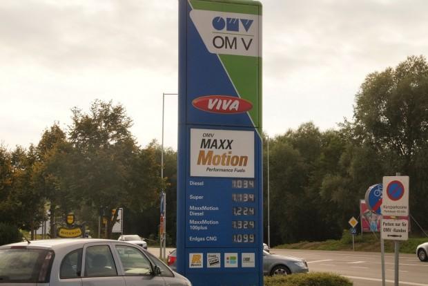 Kint a gázolajnál picit drágább, a benzinnél picit olcsóbb a CNG