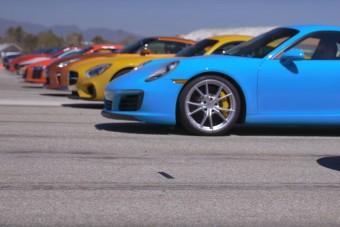 Grandiózus gyorsulási verseny 12 sportautóval