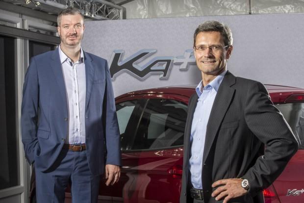 Balra Darren Palmer, jobbra Dirk Borrmann. Ők irányítják a kiskategóriás Fordok fejlesztését, a Ka+ európai szintre hozása nagy feladat volt