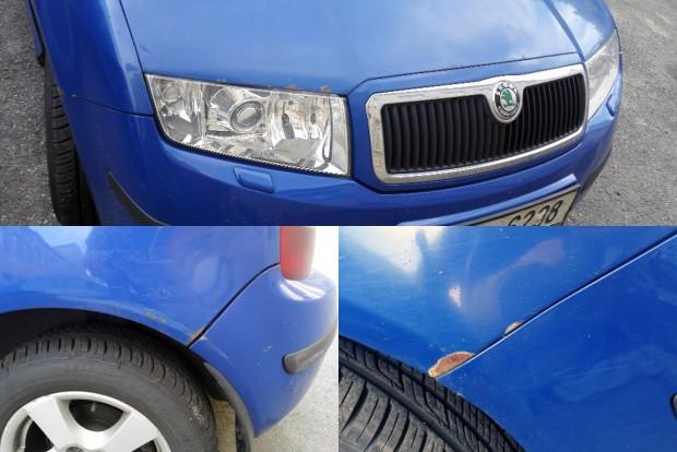 A ki nem javított kőfelverődések és apró sérülések miatt itt-ott rozsdásodik az autó