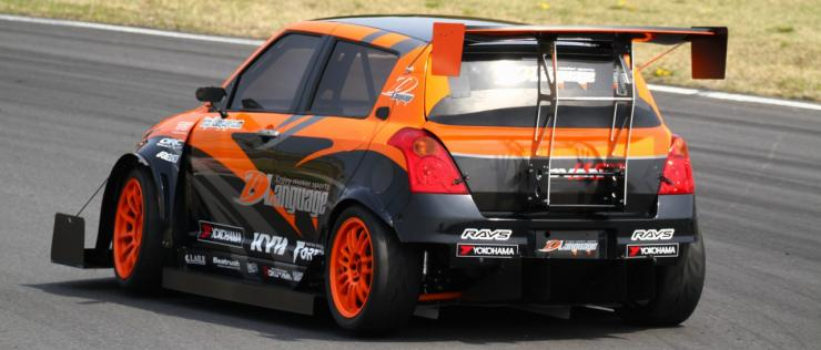 Maruti-Swift-D-Language-rear-race-car