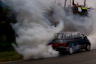 A dízelesek rémálma végzett egy autóval az M7-esen 1