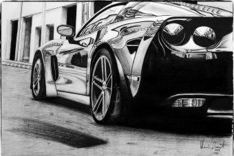 Autókat rajzol a magyar srác, de nem akárhogy