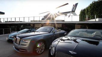 Luxusautó gyűjteménnyel együtt eladó ez a hatalmas villa