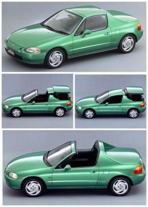 2, A Honda Civic Del Sol targatetejét villanymotor tolta be a felemelt csomagtérfedél alá