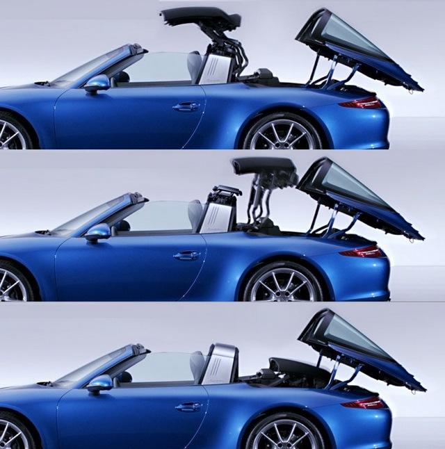 7, A Porsche Targa már önmagában fogalom, de az elektromosan eltűnő, a felemelkedő hátsó üveg alá befészkelődő tetős mai változat elképesztően menő