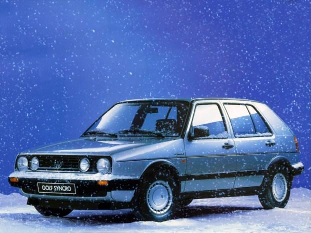 Volkswagen Golf/Passat Syncro - A Volkswagen sem ülte tétlenül végig a nyolcvanas éveket. Igaz nekik csak a Steyr-Puchhal közösen fejlesztett viszkokuplungos rendszerre futotta szemben az Audi Torsen-differenciálzárral működő egységével. A legolcsóbb ajánlatok között is feltűnik egy-egy összkerekes darab, de aki igazi különlegességre vágyik, annak a Golf Country levadászása ajánlott.