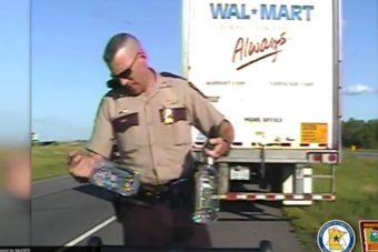 Rendőr elé zuhant a totál részeg amerikai kamionos