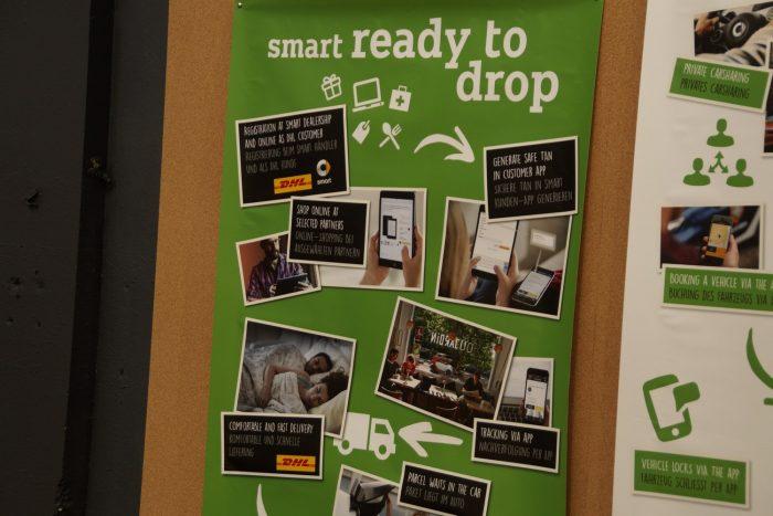 Az elektromos Smart mobilon megosztható nyitási kódja lehetővé teszi, hogy a csomagposták négykerekű postaládának használják a Smartot