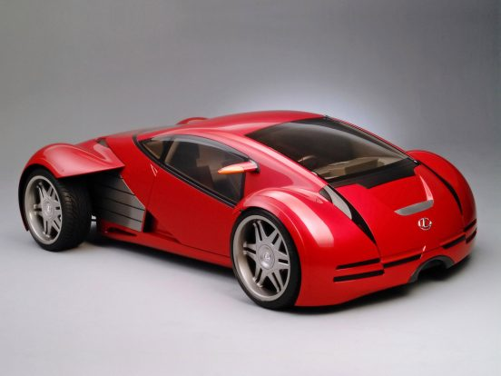"""Lexus of the future from the film, """"Minority Report."""" 2002 Los Angeles Auto Show."""