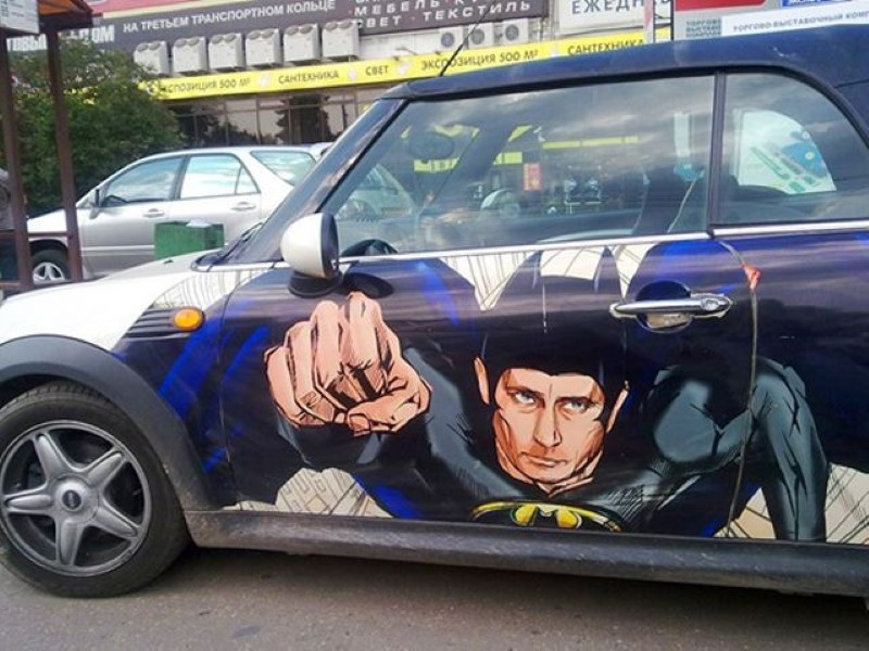 Vladimir-Putin-fans-paint-his-picture-on-their-cars-4