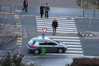 Győrben véletlenül Tetrist csináltak egy zebrából 2