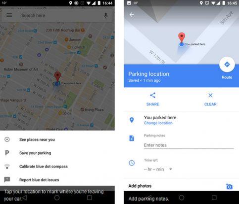 google parkolás