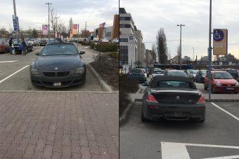 Újabb tenyeres-talpas tahó parkolás Budapesten