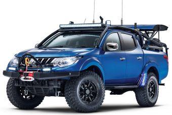 Barbár Mad Max-autó a Mitsubishitől