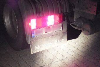 Trükkös rendszámot fogtak rendőreink