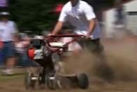 Őrülten profi szintre emelték a kerti traktoros száguldást a spanyolok 1