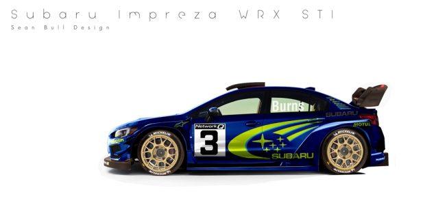 Richard Burns Imprezáját idézi ez a Subaru WRX STI, amire a rally egyik legismertebb festése került.