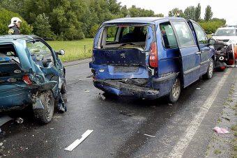 Három autó ütközött az M5-ösön