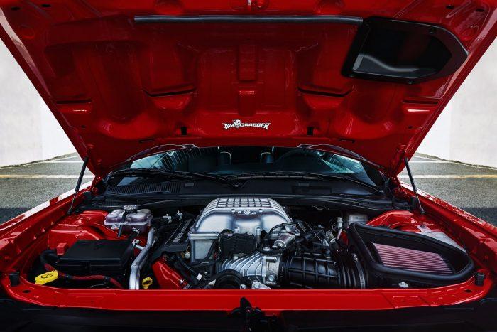 The 2018 Dodge Challenger SRT Demon's 6.2-liter supercharged HEMI® Demon V-8 engine.
