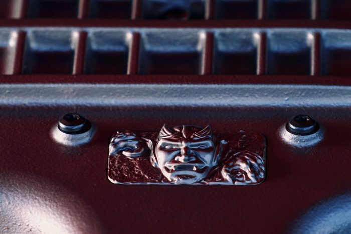 Custom diecast Demon emblem located on the cover the 6.2-liter supercharged HEMI® Demon V-8 engine.