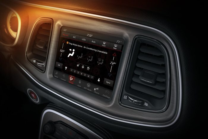 When in Drag Mode, the 2018 Dodge Challenger SRT Demon's cabin air conditioning system is redirected to the chiller unit that cools the engine's charge air cooler system.