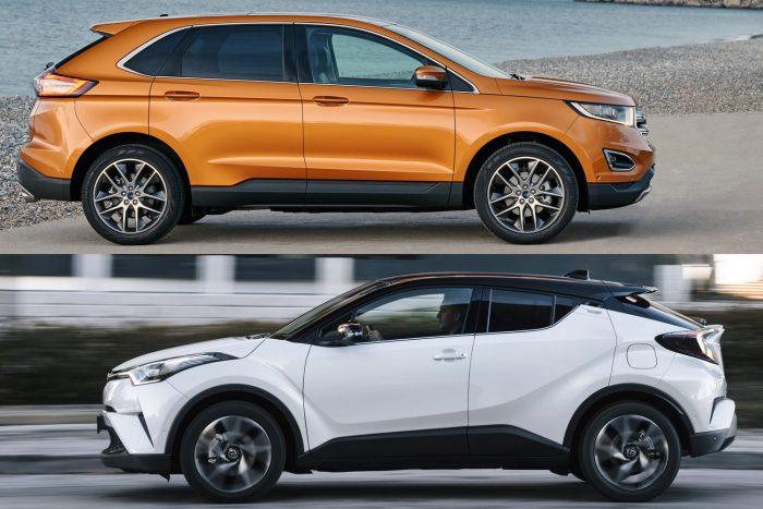 SUV: Ford Edge / Toyota C-HR (holtverseny)
