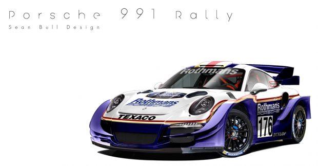 1984-es elődje előtt tiszteleg ez a Porsche 911-es teljes B csoportos rally felszerelésben és Rothmans festéssel.