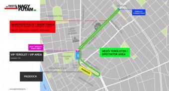 Új útvonalon rendezik a pesti F1-es parádét