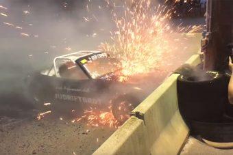 Látványos lángok között pusztult el a szörnyeteggé faragott Mazda MX-5