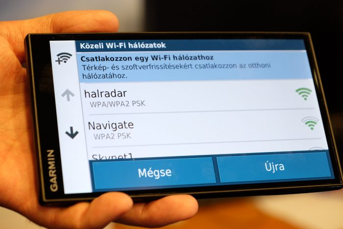 WiFi-ről frissíti magát a Garmin autós GPS