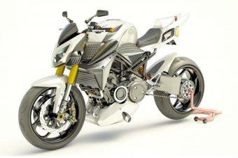 Wankel-motoros hibrid motorkerékpár Franciaországból