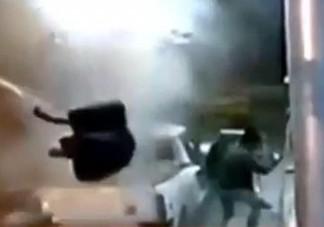 Brutális robbanás a benzinkúton