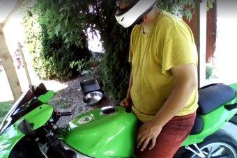 Apa kicsit ideges lett, amikor kiderült, hogy nem stimmel valami a motorral