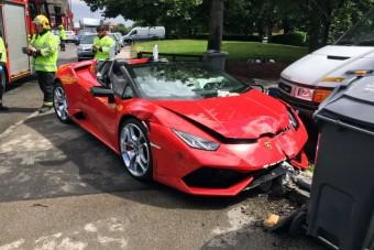 Szétszalad a ménes, megtörték a kölcsön-Lamborghinit