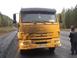 40 autót szórtak le bitumennel egy orosz útfelújításon