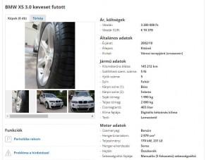 Te megvennéd ezt a predátorarcú X5-ös BMW-t? Sajnos belül sem szebb