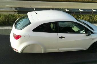A német autópályán olyat fotóztak, amilyet még soha nem láttunk