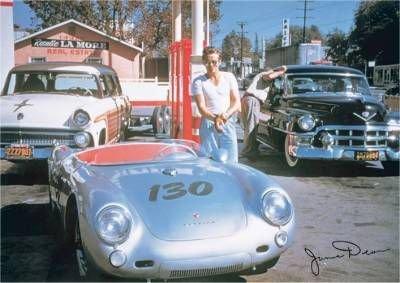 Porsche 550 Spyder & James Dean